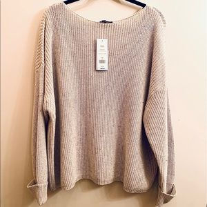 French Connection Oversized Gray Knit Sweater NWT